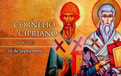 Oramos unidos, aunque no estemos juntos. 16 de septiembre. Jueves de la vigesimocuarta semana del Tiempo Ordinario. Memoria de San Cornelio y San Cipriano