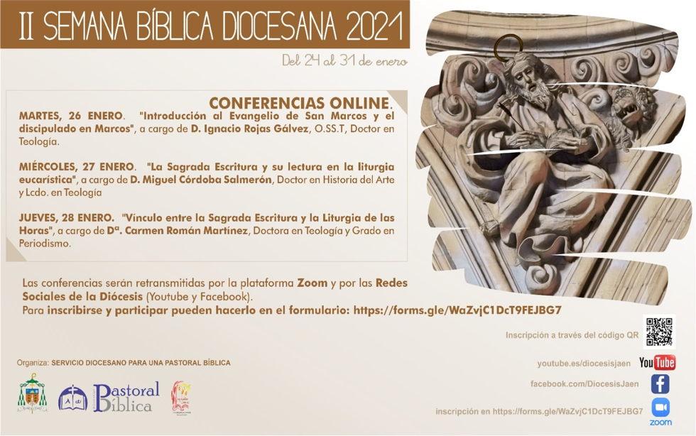 Asiste a las tres charlas Bíblicas de la Semana Bíblica Diocesana 2021